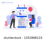 machine learning illustration... | Shutterstock .eps vector #1352888123