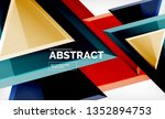 triangles repetiton geometric...   Shutterstock .eps vector #1352894753