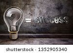 lamp of idea for success | Shutterstock . vector #1352905340