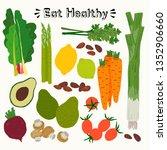 set of fresh colourful...   Shutterstock .eps vector #1352906660