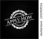 apply now chalk emblem | Shutterstock .eps vector #1352909516