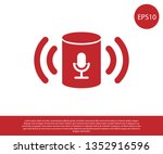 red voice assistant icon... | Shutterstock .eps vector #1352916596