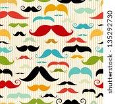 mustache seamless pattern in... | Shutterstock .eps vector #135292730