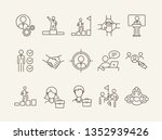 professional icons. line icons... | Shutterstock .eps vector #1352939426