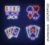 playing cards aces and suits... | Shutterstock .eps vector #1352939510