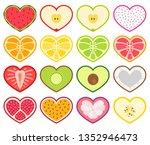 Heart Shaped Fruit Illustration ...