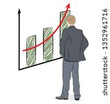 businessman looks at the growth ... | Shutterstock .eps vector #1352961716