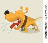 cartoon illustration of barking ...