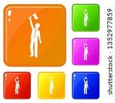people group demonstration...   Shutterstock .eps vector #1352977859