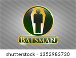 shiny badge with dead man in...   Shutterstock .eps vector #1352983730
