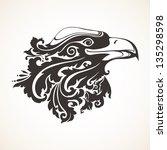 ornamental decorative eagle | Shutterstock .eps vector #135298598
