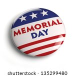 Stock photo memorial day button badge with usa flag stars and stripes 135299480