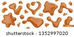 caramel drops vectorized image. ... | Shutterstock .eps vector #1352997020