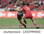 singapore april 28 fiji 7s team ...   Shutterstock . vector #1352999003