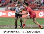 singapore april 28 fiji 7s team ...   Shutterstock . vector #1352999006