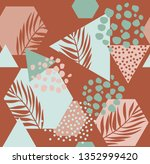 abstract drawing in... | Shutterstock .eps vector #1352999420