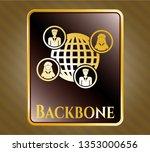 golden emblem or badge with... | Shutterstock .eps vector #1353000656