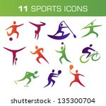 collection of colorful sports... | Shutterstock .eps vector #135300704
