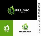 fire logo templates | Shutterstock .eps vector #1353023339