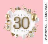 happy 30th birthday party... | Shutterstock . vector #1353024566