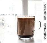 morning home made coffe on... | Shutterstock . vector #1353025829