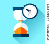 hourglass and stopwatch icons... | Shutterstock .eps vector #1353031496