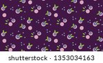 seamless vector pattern with... | Shutterstock .eps vector #1353034163