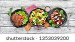 a set of delicious restaurant... | Shutterstock . vector #1353039200