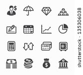 finance icons with white... | Shutterstock .eps vector #135306038