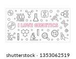 i love genetics concept outline ... | Shutterstock .eps vector #1353062519