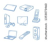 set of electronic devices as... | Shutterstock .eps vector #1353073460