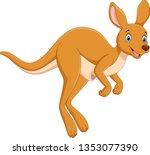 Cartoon Cute Kangaroo Jumping