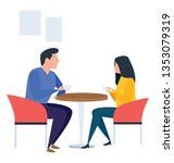 illustration of table talk... | Shutterstock .eps vector #1353079319