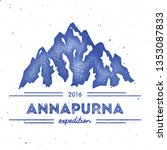 mountain annapurna outdoor... | Shutterstock .eps vector #1353087833