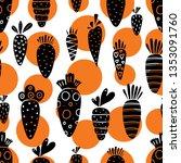 carrot seamless pattern for... | Shutterstock .eps vector #1353091760