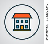 house icon colored line symbol. ... | Shutterstock . vector #1353095249