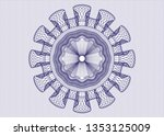 blue abstract rosette | Shutterstock .eps vector #1353125009