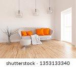 idea of a white scandinavian... | Shutterstock . vector #1353133340
