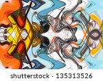 art abstract multi colored... | Shutterstock . vector #135313526