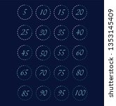 stopwatch icons set in flat... | Shutterstock .eps vector #1353145409