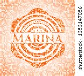 Marina Orange Tile Background...