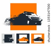 4x4 off road dakar rally | Shutterstock .eps vector #1353147500