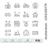 vector line icon set. public...