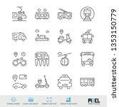 vector line icon set. public...