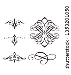ornaments vector icon | Shutterstock .eps vector #1353201050
