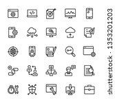 seo and web line icons pack is... | Shutterstock .eps vector #1353201203