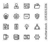 seo and web line icons pack is... | Shutterstock .eps vector #1353201206