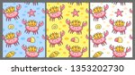 set of seamless pattern with...   Shutterstock .eps vector #1353202730
