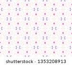 ornamental arabesque floral...   Shutterstock .eps vector #1353208913