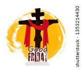 good friday vector illustration ... | Shutterstock .eps vector #1353214430